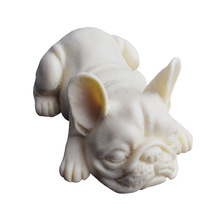 3D Bulldog Cake Mould Cute Dog Resin Craft Mold DIY Fondant Silicone Soap Molds