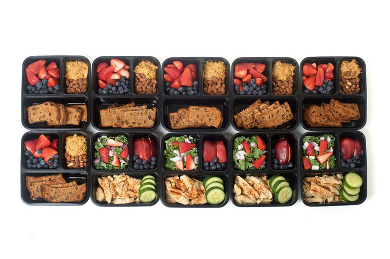 3 Compartment Reusable Plastic Food Storage Containers With Lids Microwave And Dishwasher Safe Bento Lunch Box Set Of 5 In Bo Bins From Home