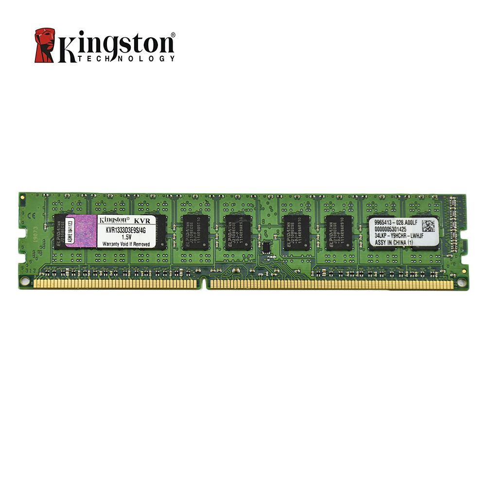 Kingston ECC Memory RAM DDR3 4G 1333MHZ CL9 240pin 1.5V PC3-10600U working on Workstation and servers plush ocean creatures plush penguin doll cute stuffed sea simulative toys for soft baby kids birthdays gifts 32cm