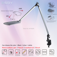 Moscow express Industrial design of infrared induction long arm desk lamp with clip led lamp 3 Color Modes 12 Dimmable Levels