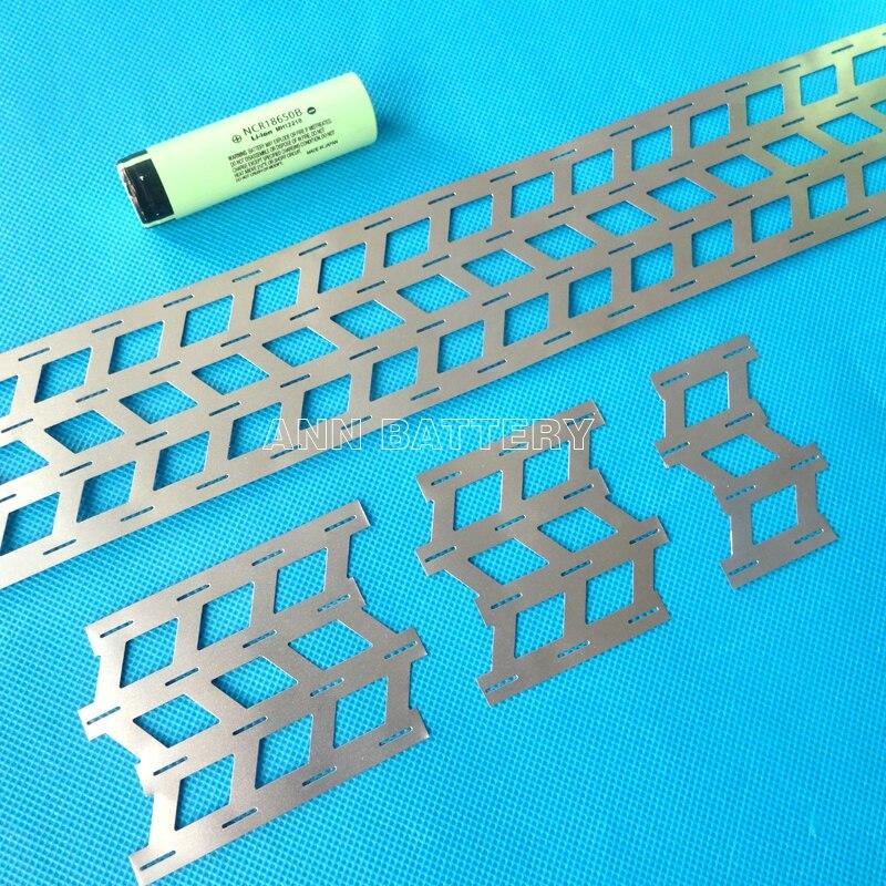 18650 battery connect nickel plate, 4W-shaped nickel belt, Cell spacing 18.5mm, 18650 li-ion batteries nickel sheet