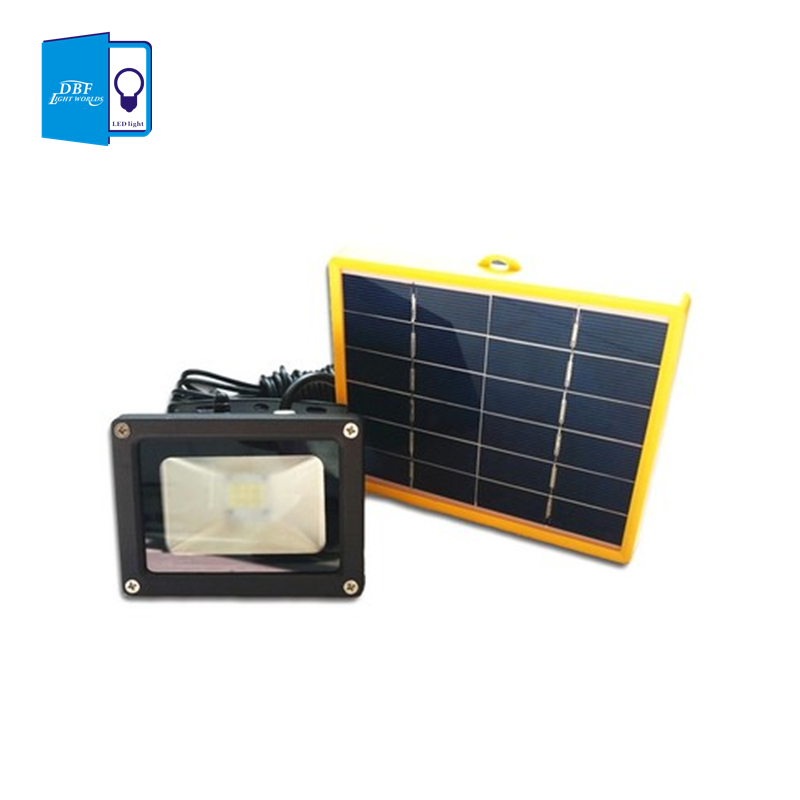 Solar Outdoor Lights No Batteries: [DBF]Waterproof 10W Solar Powered LED Flood Light With 5M