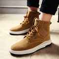 High Top Casual Men Shoes Winter Lace Up Suede Leather Sport Walking Shoes Superstar Basket Zapatillas Trainers Footwear Boots