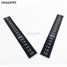2pcs/lot Homebrew Sticker Thermometer 10 - 40 C degree, Fridge Kitchen Liquid Crystal