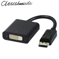 Wholesale Black DisplayPort DP To DVI Single Link Active Video Cable Adapter Support ATI Eyefinity 3