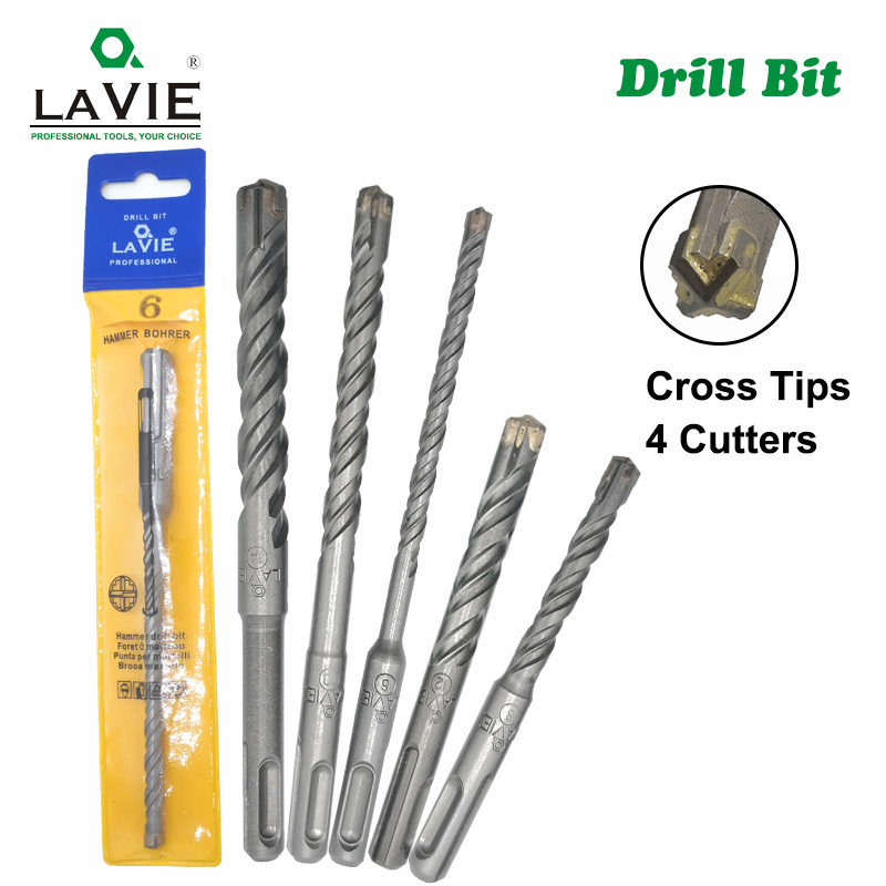 1pc Concrete SDS Plus Drill Bit Cross Tips 4 Cutters 110mm 160mm Wall Brick Block Electric Hammer Masonry Drilling Bits