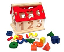BOHS Kids Children Puzzle Wooden Math Mathematics Digital Number Smart Frame House Baby Toy Gift 123 Sorting
