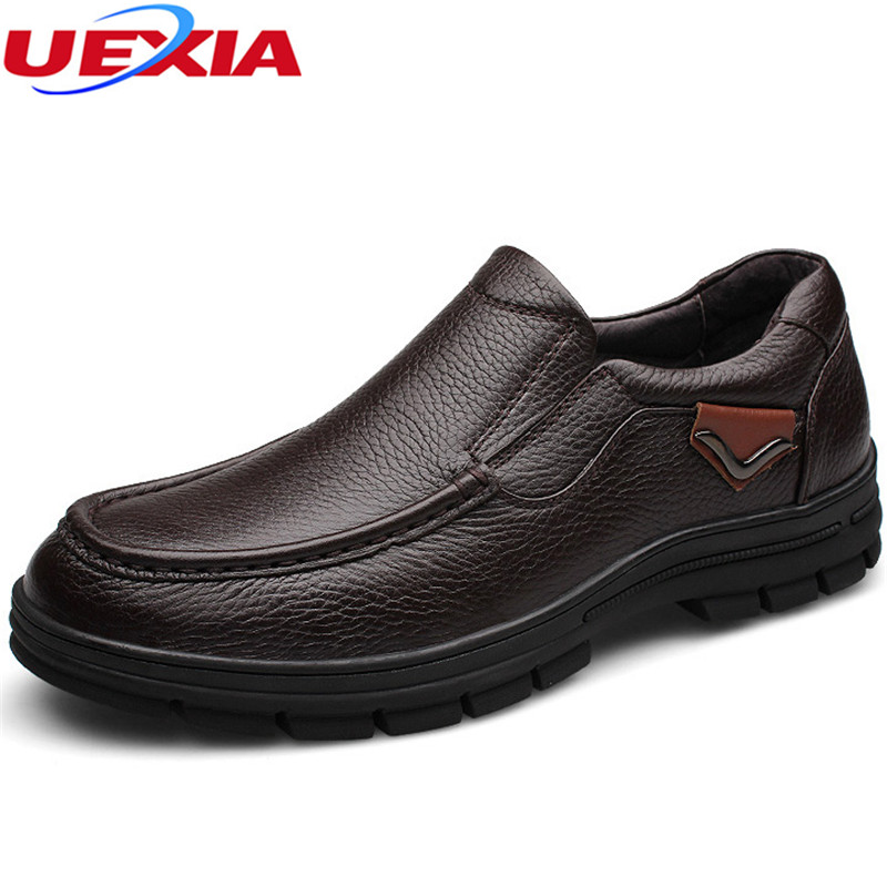 Father Mens Leather Shoes Business Dress Moccasins Flats Slip On New Casual Men Shoes Mens High Quality Outdoor Zapatos Hombre dxkzmcm new men flats cow genuine leather slip on casual shoes men loafers moccasins sapatos men oxfords