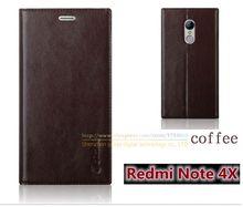 Роскошные Высокое Качество Натуральной Кожи Моды Стенд Книга Стиль Телефон Сумка Case Для Xiaomi Redmi Note 4X Note4x 5.5 «откидная Крышка