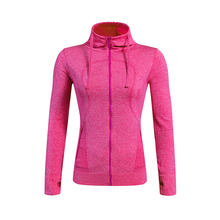 High Quality Yoga Exercise Hoodies Women Fitness Long Sleeve Tight Sport Coat Femme Gym Tank Tops Running Zipper Jackets