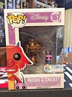 Exclusive Funko pop MULAN GOLDEN MUSHU & CRICKET #167 Vinyl Action Figure Bobble Head Collectible Model Toy with Original Box