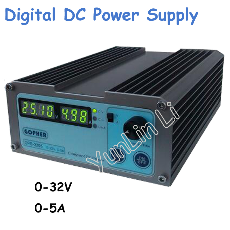Precision Compact Digital Adjustable DC Power Supply OVP/OCP/OTP Low Power 32V 5A 110V-230V 0.01V/0.01A cps 6011 60v 11a digital adjustable dc power supply laboratory power supply cps6011