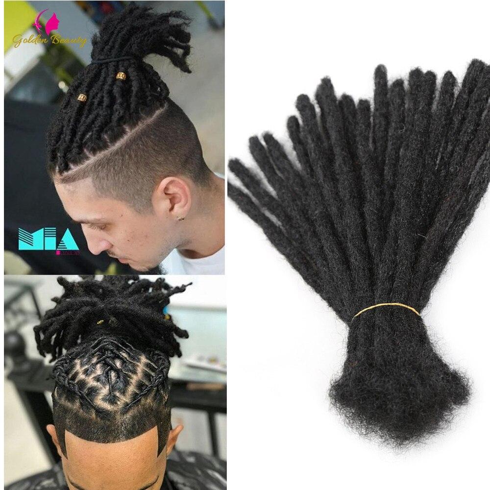 "Golden Beauty 6"" 10"" Handmade Dreadlocks Hair Extensions 5strands Synthetic Dreadlock Crochet Hair For Women Men 1"