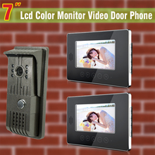 wired 7 video door phone intercom system Intercom doorbell Camera Monitor Video Intercom door bell waterproof 2 monitor 1 Camera