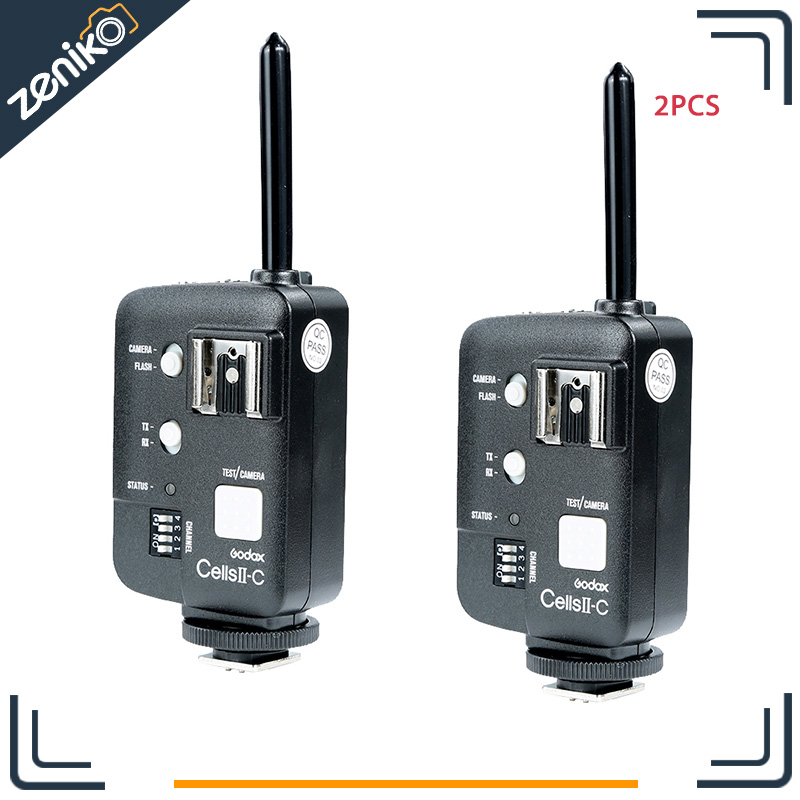 2pcs Godox Cells II 1/8000s Wireless Transceiver Trigger Kit for Canon EOS Camera, Speedlite and Studio Flashes V850 V860 AD360 chishimba mowa and bao tran nguyen mapping cells expressing estrogen receptors