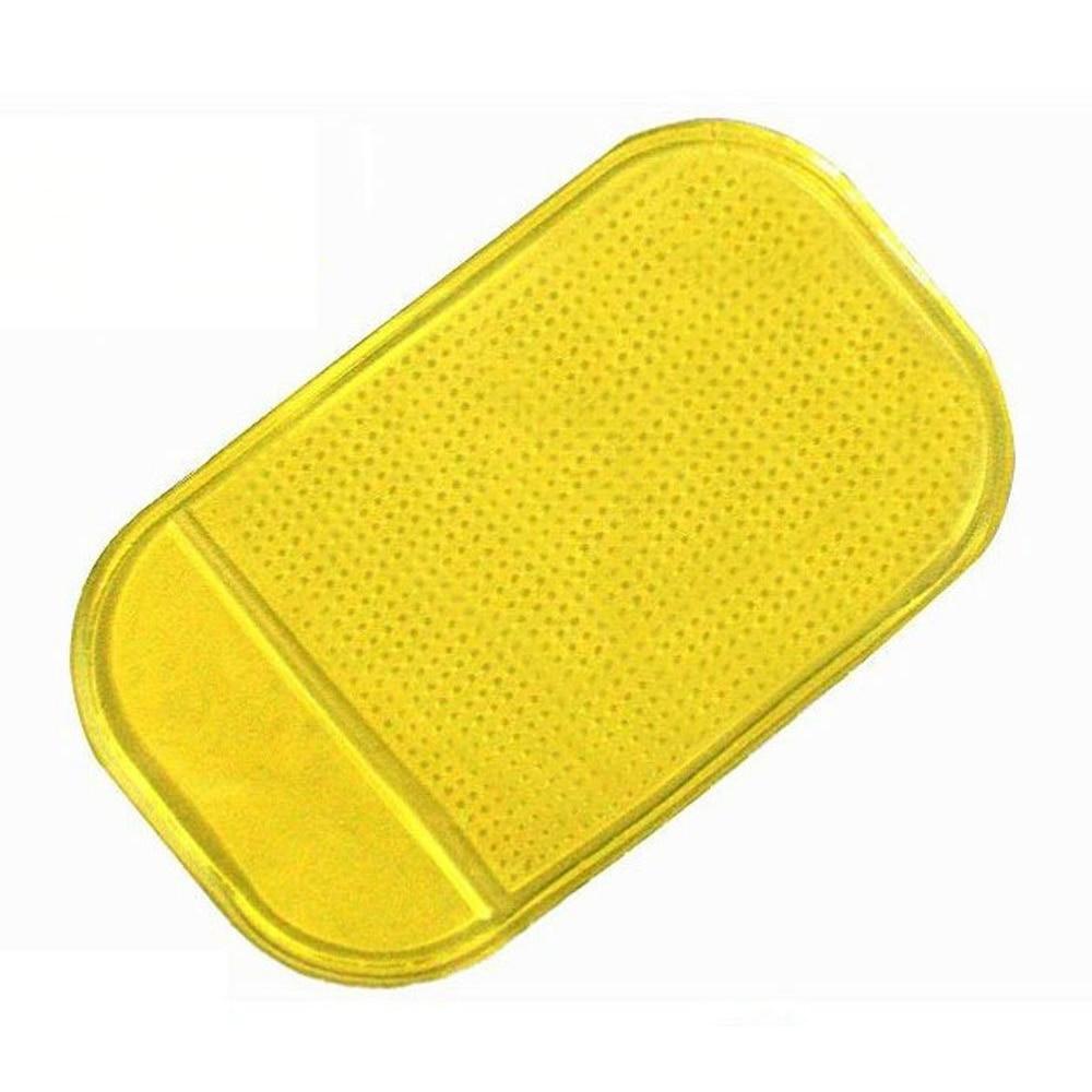 Magic Anti-Slip Non-Slip PU Mat Car Dashboard <font><b>Sticky</b></font> <font><b>Pad</b></font> Adhesive Mat for <font><b>Cell</b></font> <font><b>Phone</b></font> Yellow