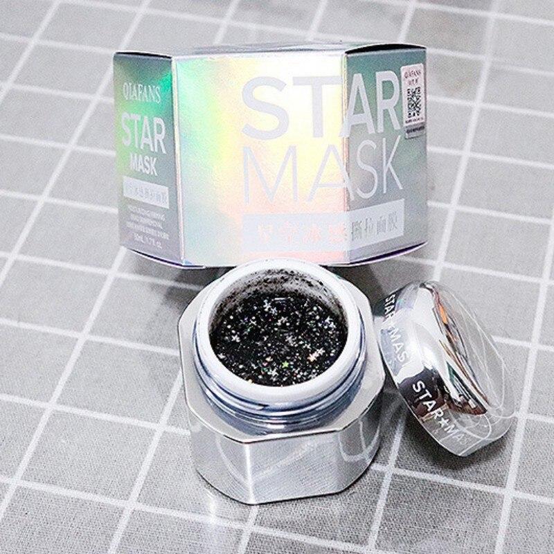 STAR MASK Glitter Bling Peel off Silver Full Face Mask From Dots Blackhead Remover Whiten Korean Facial Face Care Masks 50ml