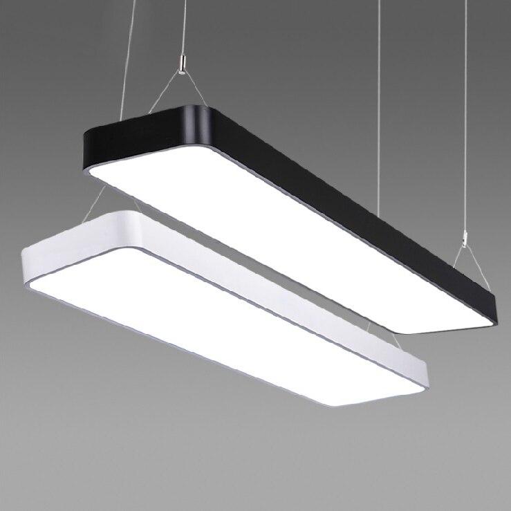 Светодиодный офисные длинные полосы Алюминий прямоугольный коммерческих освещение рынка ультра тонких ламп современные подвесные светил