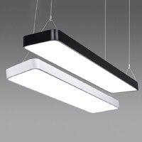 Светодиодный офисный длинный алюминиевый прямоугольный коммерческий рынок освещения ультра тонкие лампы современные подвесные светильни