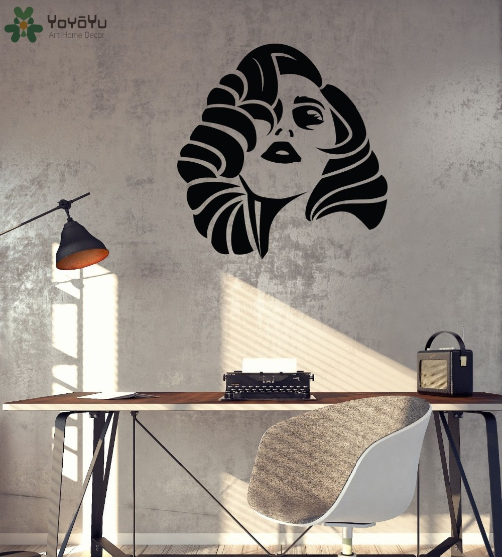 American Singer Wall Decal Lady Gaga Vinyl Wall Sticker Livingroom Silhouette Wallpaper Modern Design Interior Home Decor SY442