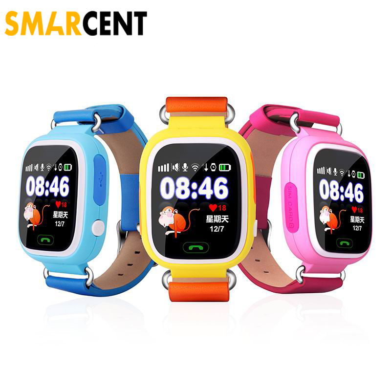 Smart baby watch Q90 phone kids GPS Wifi Smart Watch SOS GPS Location Finder Locator Device Tracker Kid Safe Monitor children