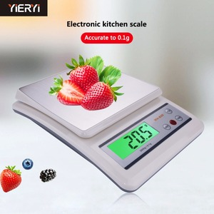yieryi 3kg/0.1g Kitchen Electronic Scales Stainless Steel Surface Cooking Scale Counting Function Laboratory Bench Balance|scale counting|electronic scale|laboratory balance -