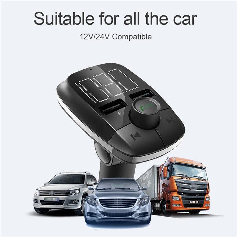 Wireless Bluetooth FM Transmitter MP3 Player Fast Charger Radio Adapter Car Kit Bluetooth V4.2 Car MP3 Player Daul USB 40NT15 (5)