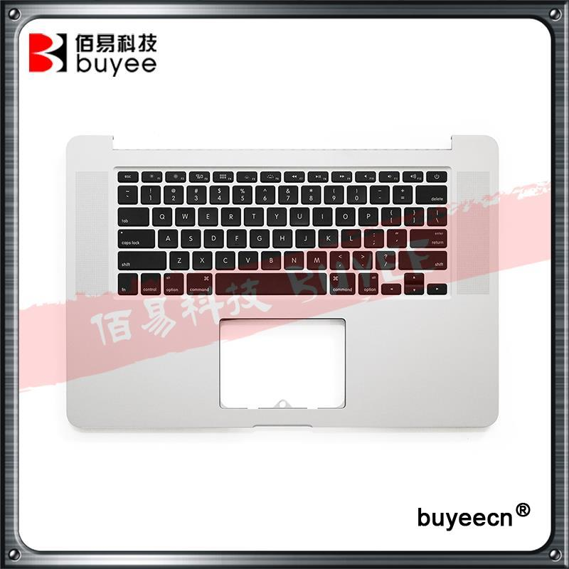 Genuine NEW A1398 Laptop Topcase Palmrest 2013 2014 Year For Macbook Pro Retina 15'' A1398 Top Case + US Keyboard Replacement new original laptop a1706 us keyboards for macbook pro retina 13 inch a1706 keyboard 2016 year replacement