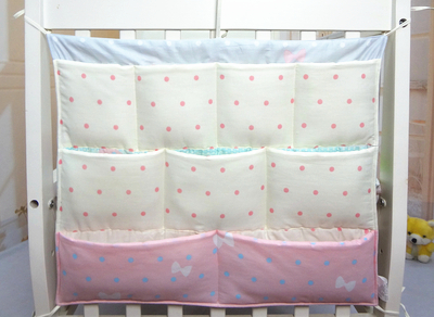 Promotion!  Cartoon Baby boy girls 62*52cm Bed Hanging organizer Bags bebe storage bedding sets Accessories Diapers Bag