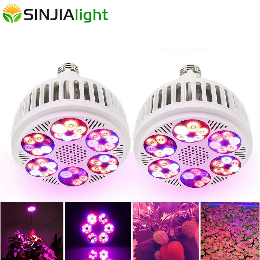 2pcs/lot 120W LED Grow Light Full Spectrum Plant Growing Lamp Led Bulb For Hydroponics Flowering Seed Indoor Plants Lighting