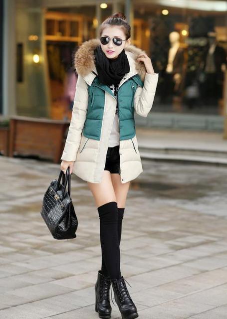 AQ207 wadded prendas de vestir exteriores de Las Mujeres de invierno medio-largo de algodón acolchado Parkas para mujer chaquetas de invierno y abrigos