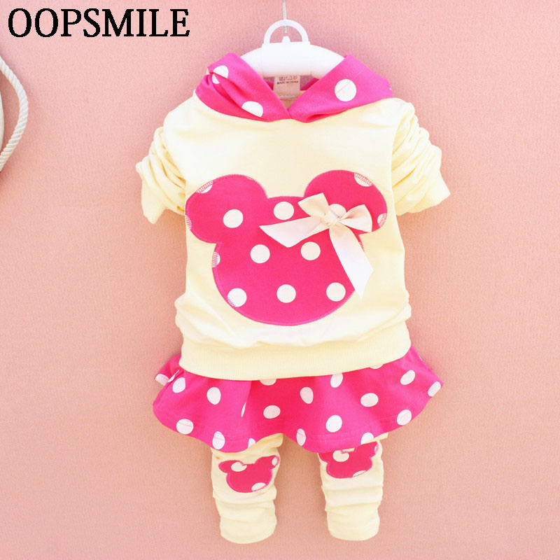 Spring Baby girls clothes cartoon bebes Suits Infant/Newborn Clothes Sets Kids hooded T-shirt+pant Sets Children clothes Suits cartoon rabbit bear baby romper children clothes spring toddler jumpsuit newborn infant clothing wear roupas de bebes