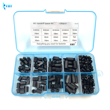 180Pcs/lot M2 M2.5 M3 M4 Female Male Hex Nylon Standoff Spacer Column For PCB Motherboard Fixed Plastic Spacing Screws Set NL001 260pcs m2 pcb threaded brass male female standoff spacer board hex screws nut assortment box kit set with plastic box hollow