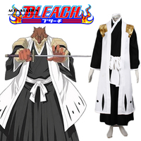 2018 Free Shipping Bleach Kimono Gotei Thirteen Komamura Sajin Captain of the 7th Division Soul Reaper Cosplay Costume
