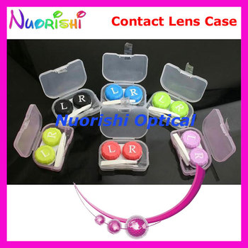 50 pcs Free Shipping C508 contact lens case kit contact lens accessories kit фото