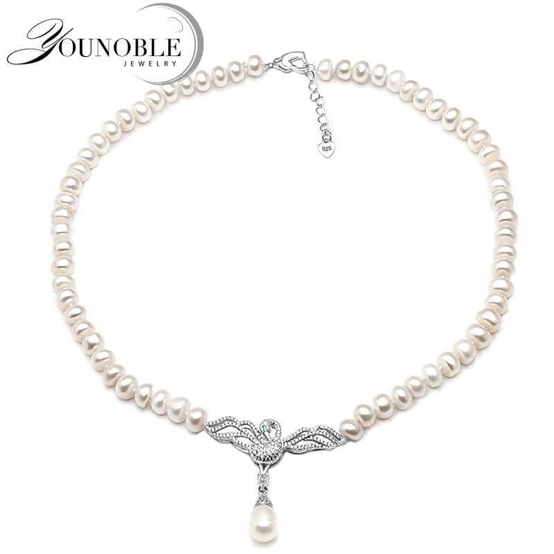Genuine Freshwater pearl choker necklace women,Fashion natural ...