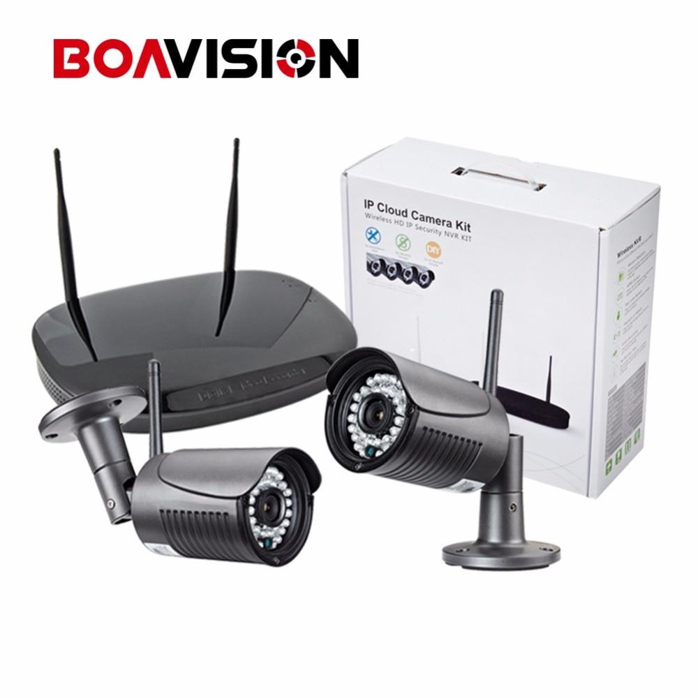 bilder für 2Ch 720 P Drahtlose Ip-kamera WIFI NVR System Kit Nacht Vision 20 Mt Außen 1.0MP Überwachung-sicherheit CCTV-System Plug & spielen