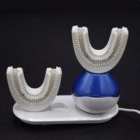 Гигиена полости рта беспроводной зарядки для взрослых Электрические зубные щётки Перезаряжаемые ультразвуковой 360 градусов интеллектуаль