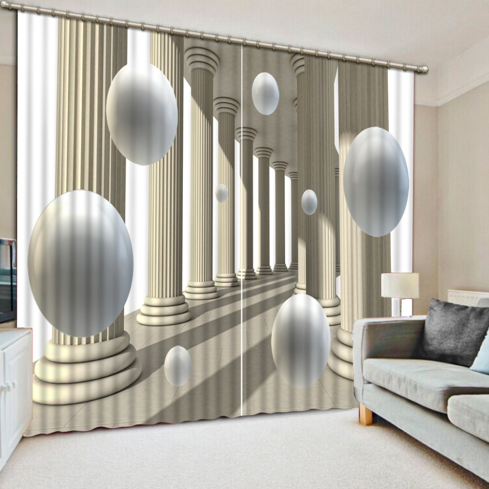 2019 3D curtain Roman column living room bedroom Kitchen hotel Window decoration high quality curtain     2019 3D curtain Roman column living room bedroom Kitchen hotel Window decoration high quality curtain