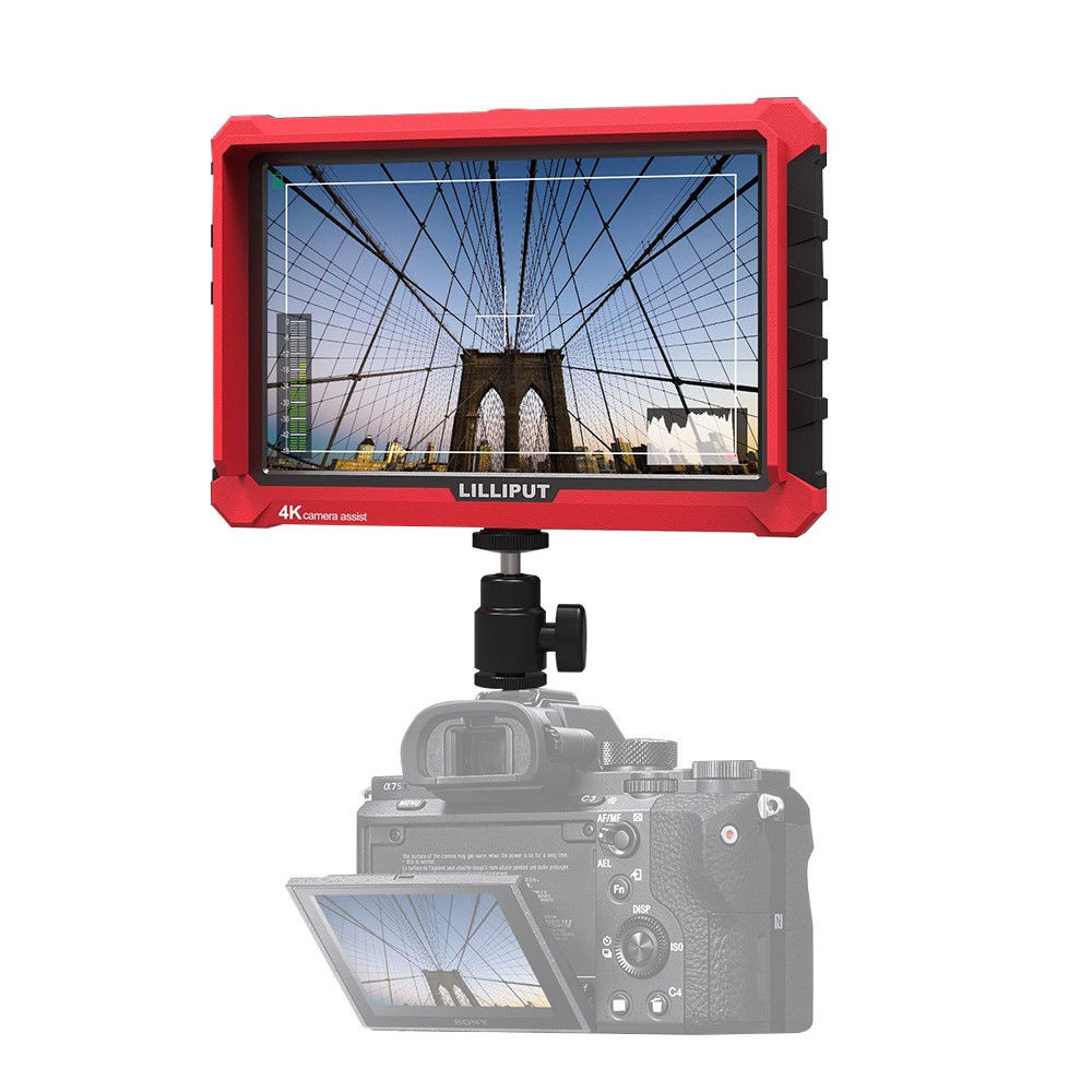 Lilliput A7S 7 Inch On Camera Field Monitor Supports 4K HDMI Input Loop Output 1920x1200 Native Brightness Wide Viewing Angle