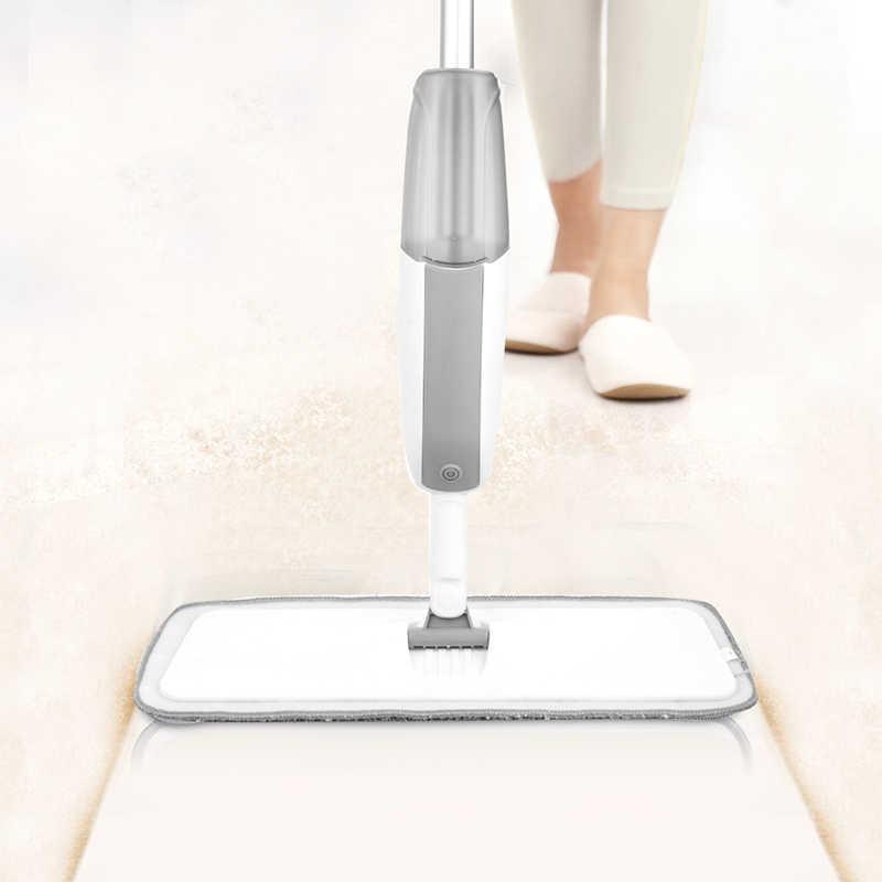 Almofadas de Microfibra Mop pulverizador Com Reutilizável 360 Graus De Metal Lidar Com Mop Para Piso Laminado De Madeira Telhas de Cerâmica Da Cozinha Da Casa De Limpeza De Pavimentos