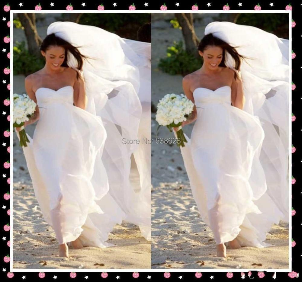 DAW2033 Hot New Gorgeous Sweetheart Empire Chiffon Wedding