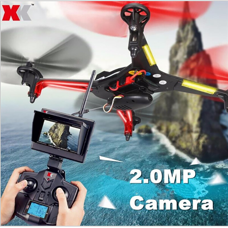 XK X250A X250-A Gyro <font><b>5</b></font>.8G 4CH 6-Axis Real-Time Video FPV Drone UFO RC Quadcopter With 2.0MP HD Camera Headless Mode Helicopter