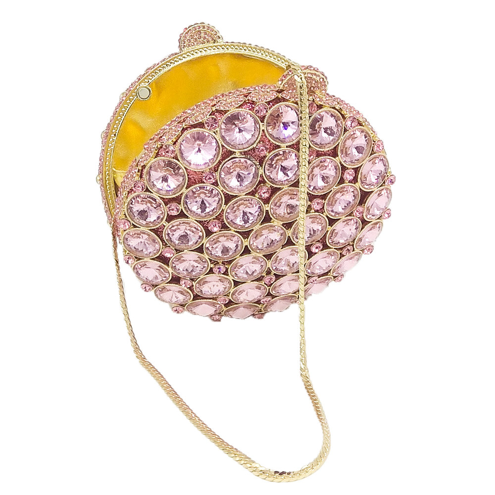 Image 5 - Boutique De FGG Socialite Hollow Out Round Hardcase Women Pink 