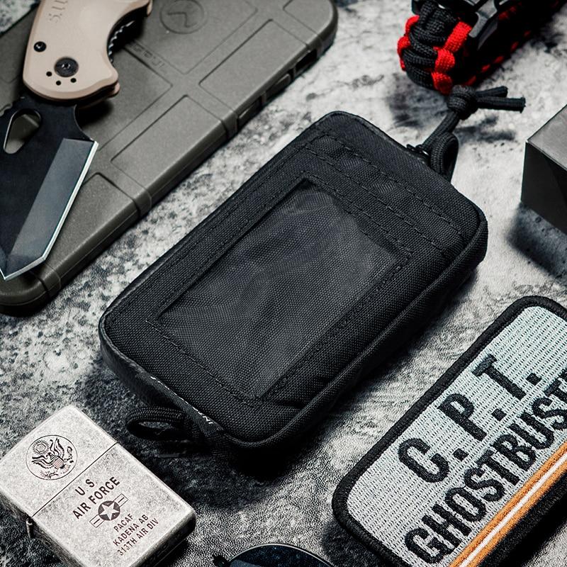 OneTigris EDC Bolsa Portátil À Prova D' Água Chave Mude A Bolsa Carteira Moeda Kit de Viagem Mini Bolsa & Cartão Slots E Zíperes À Prova D' Água