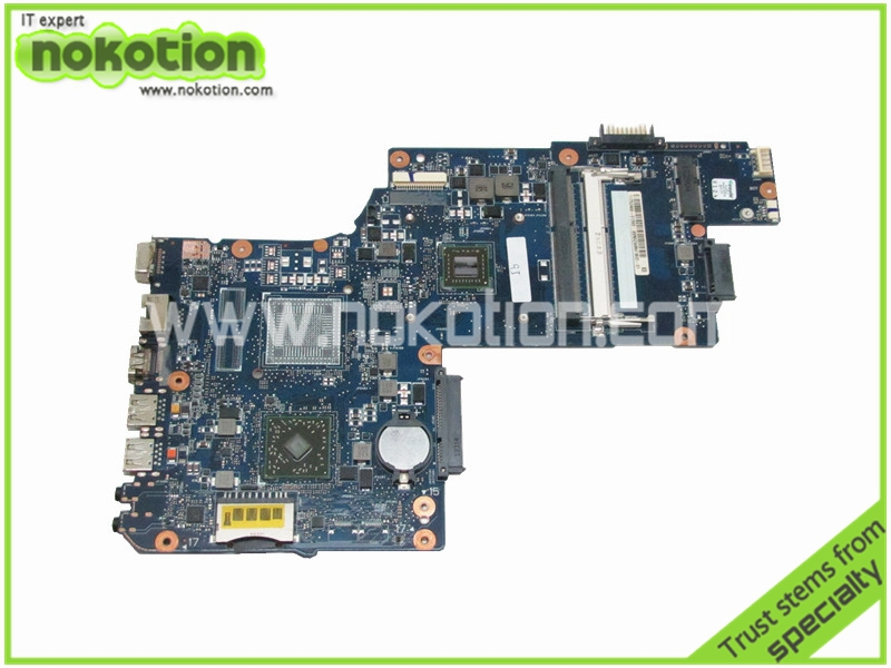 NOKOTION Laptop motherboard for toshiba satellite C850D H000051810 REV 2.1 E1200 DDR3 ADM Integrated Graphics Mainboard nokotion for toshiba satellite a100 a105 motherboard intel 945gm ddr2 without graphics slot sps v000068770 v000069110