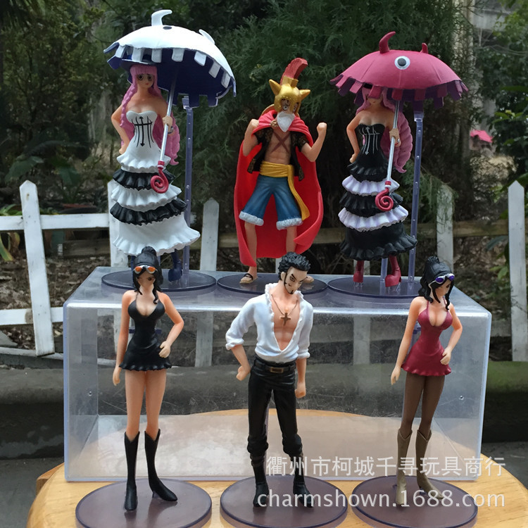 Hot 6pcs/set Luffy Robin Dracule Mihawk Perona One Piece Anime Collectible Action Figures PVC Collection toys christmas gift hot sale 26cm anime shanks one piece action figures anime pvc brinquedos collection figures toys with retail box free shipping