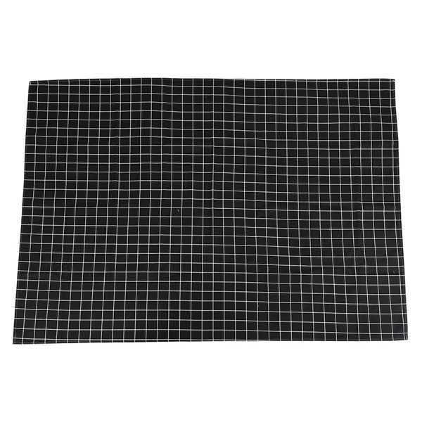 حار أسود قماش طاولة منقوش المنزل القهوة الجدول الزخرفية موجز Tablecloth للمنزل مطعم متجر الديكور