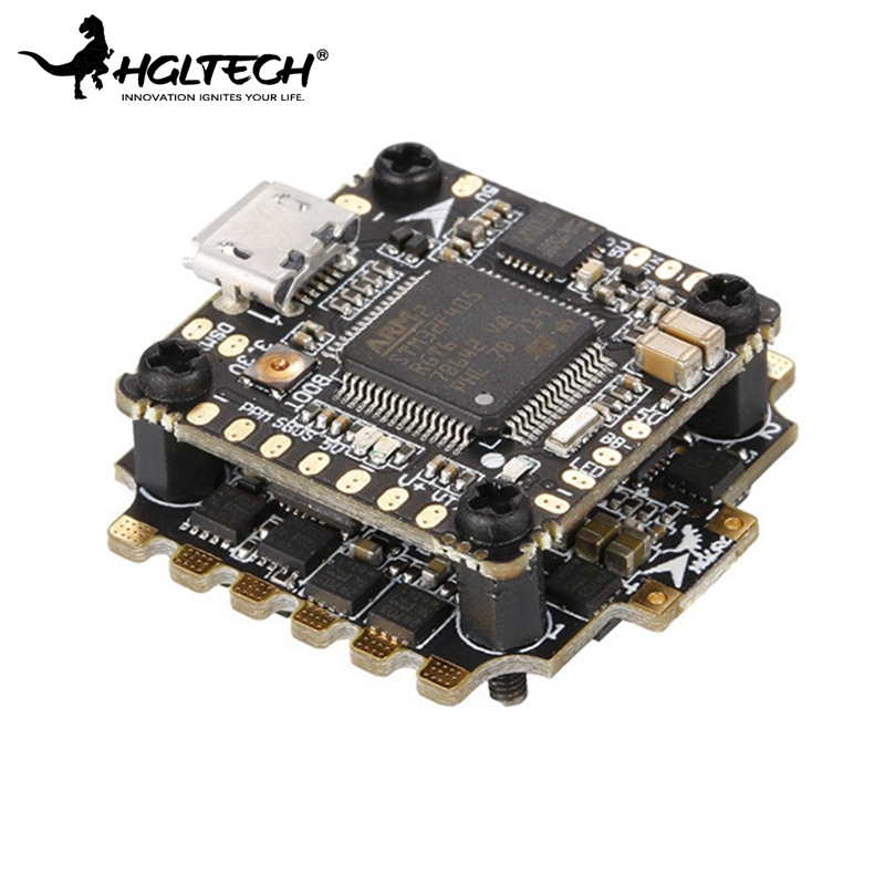 купить HGLRC XJB F428 Micro F4 AIO OSD BEC Flight Controller 6.5g 20x20mm & 28A Blhel_S BB2 2-4S 4 in 1 ESC For RC Racing Racer Drone онлайн