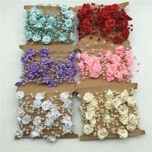 5M/Bag Fishing Line Pearls DIY Rose Silk Artificial Flower Vine for Wedding Party Kids Room Wreath Decoration Rattan Craft
